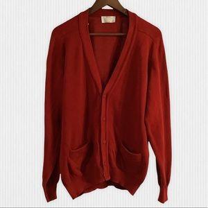 Vintage Benetton Red Cotton Cardigan Large